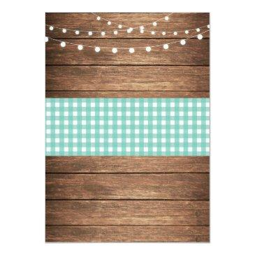 Small After We Say I Do Bbq Rustic Mint Lights Invite Back View