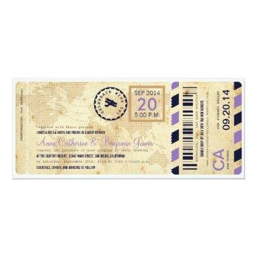 airline boarding pass ticket wedding