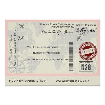 airline ticket wedding rsvp