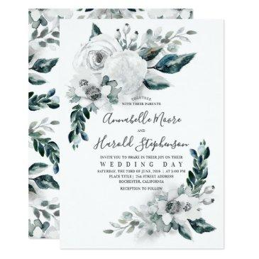 alabaster floral greenery | watercolor wedding