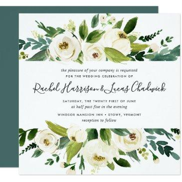 alabaster floral wedding  | square