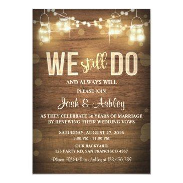 anniversary  rustic vow renewal party