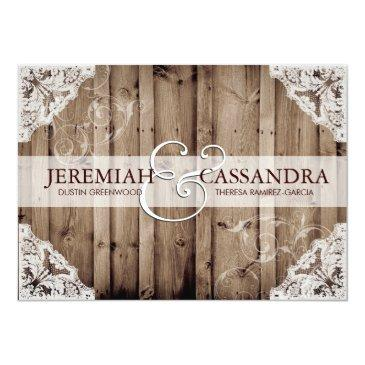 antique white lace wedding invitations