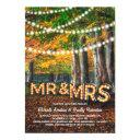 autumn fall rustic woodland tree wedding invitations