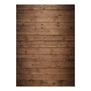 Small Autumn Rehearsal Dinner Rustic Wood String Lights Invitationss Back View