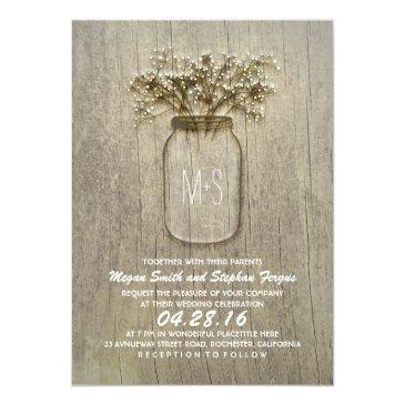 baby's breath mason jar rustic