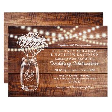 baby's breath rustic country | mason jar