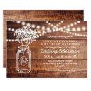 baby's breath rustic country | mason jar wedding invitations