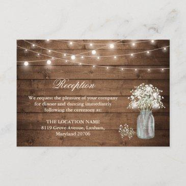 baby's breath string light reception accommodation enclosure
