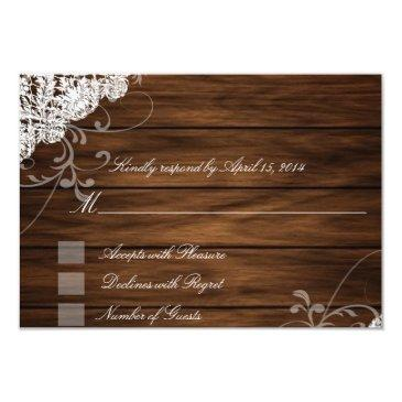 barn wood and lace rsvp