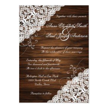 Small Barn Wood And Lace Rustic Wedding Front View