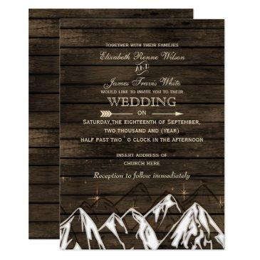 barn wood camping rustic mountains wedding