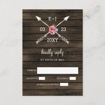 barn wood country chic wedding  rsvp
