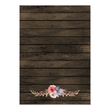 Small Barn Wood Country Chic Wedding Invitation Rsvp Back View