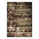barn wood snowflakes rustic winter wedding invitations