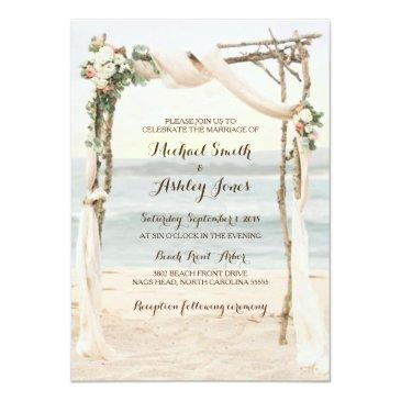 beach arbor sunset wedding