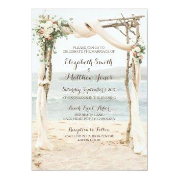 beach arbor wedding