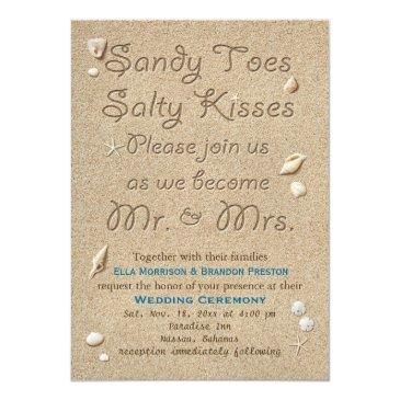 Small Beach Sandy Toes Salty Kisses Wedding Front View