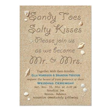 beach sandy toes salty kisses wedding