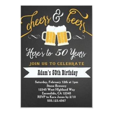 beers and cheers birthday  30th 40th etc
