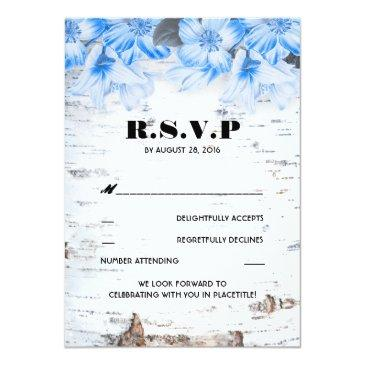 Small Birch Bark Rustic Country Wedding Rsvp Front View