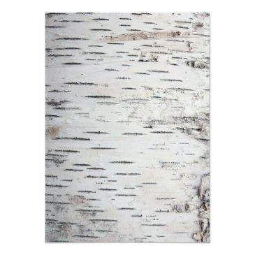 Small Birch Tree Bark Rustic Country Wedding Back View