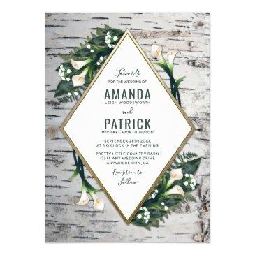 birch tree rustic calla lily wedding