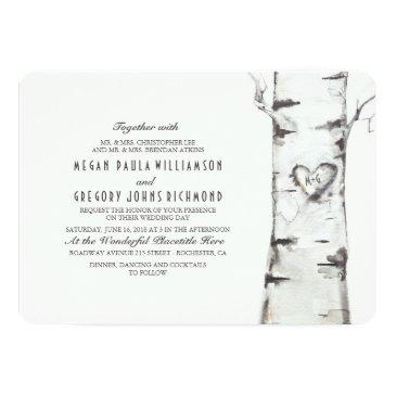 Small Birch Tree Rustic Wedding Front View
