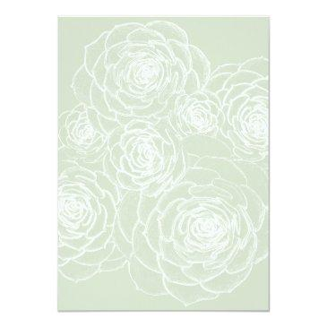 blank succulents outline wedding paper