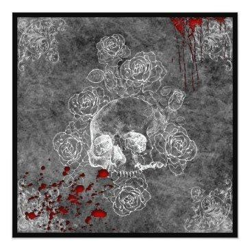 blood skull and roses horror goth wedding