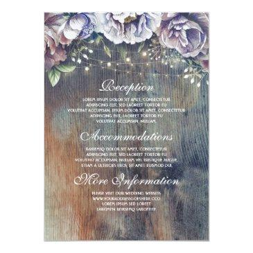 blue and maroon floral wedding information guest