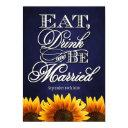 blue chalkboard sunflower wedding