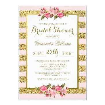 blush and gold glitter - bridal shower