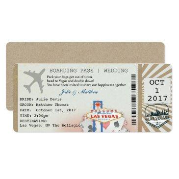 boarding pass las vegas wedding