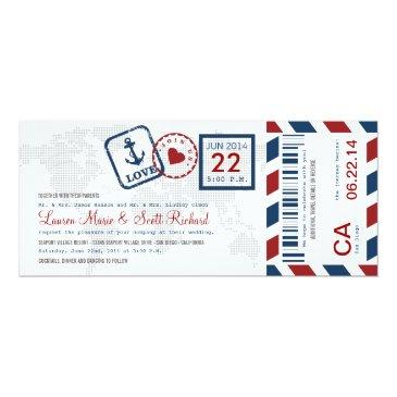 boarding pass nautical airmail ticket