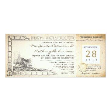 boarding pass nautical vintage wedding
