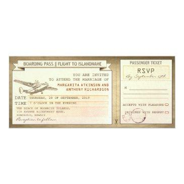 boarding pass tickets -vintage wedding
