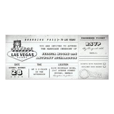 boarding pass wedding tickets las vegas