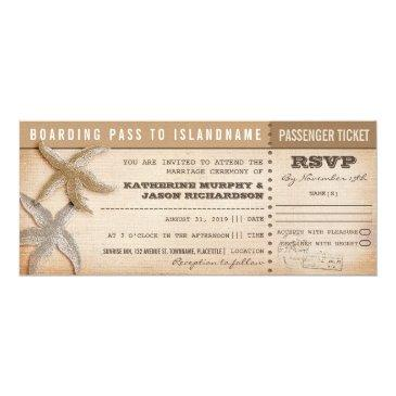boarding pass wedding tickets with rsvp