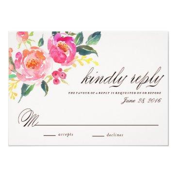 Small Bohemian Floral Wedding Response Front View