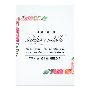 Small Bohemian Floral Wedding Website Invitation Front View