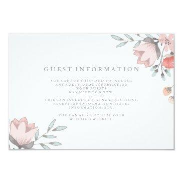boho botanical rustic guest details coral and gray