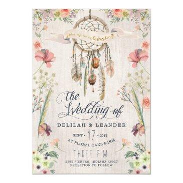 boho dream catcher floral wedding