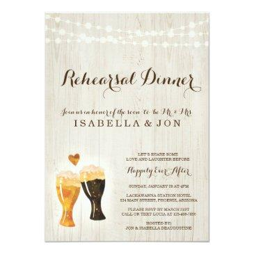 brewery rehearsal dinner invitation | rustic beer