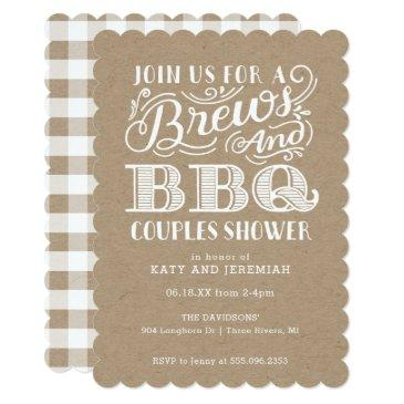 brews and bbq couples shower on kraft
