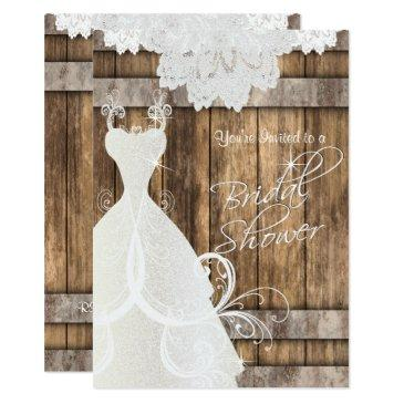 bridal shower in rustic wood and lace