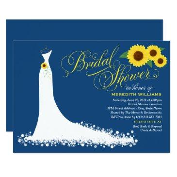 | sunflower wedding gown