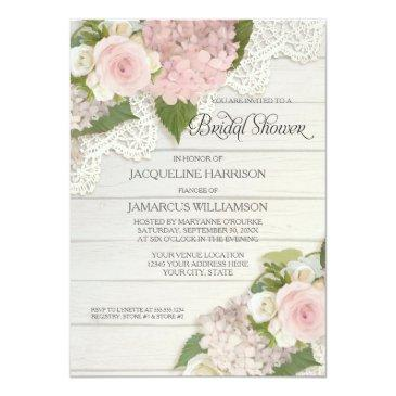 bridal shower pretty flower vintage lace hydrangea