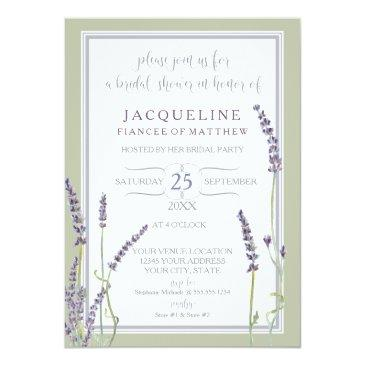 bridal shower watercolor french lavender flowers
