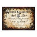 brown gothic halloween reception info on back invitations